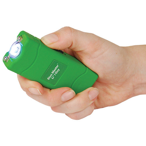 Stun Master Lil Guy 12,000,000 volts Green Stun Gun W/flashlight and Nylon Holster