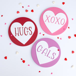 "8"" CANDY HEART rounds"