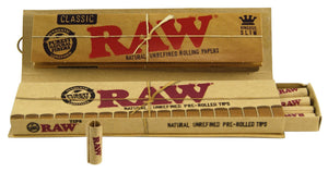 RAW Connoisseur King Size Slim Rolling Papers + Pre-rolled Tips