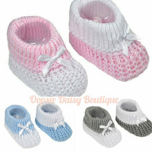 Load image into Gallery viewer, Baby Knitted Ribbon Booties