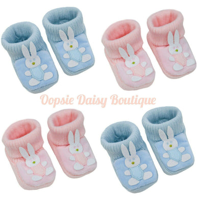 Boys Girls Lovely Soft Bunny Slippers Booties