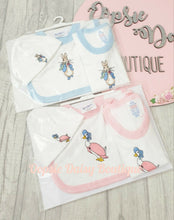 Load image into Gallery viewer, Peter Rabbit Jemima Puddle Duck - Body Vest - Bib - Hat - Size 0/3 Months
