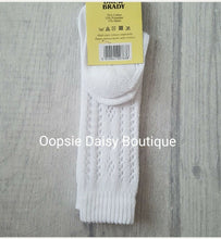 Load image into Gallery viewer, Boys Girls Knee High Spanish Romany Style White Patterned Socks / 12mths - 6yrs - Oopsie Daisy Baby Boutique