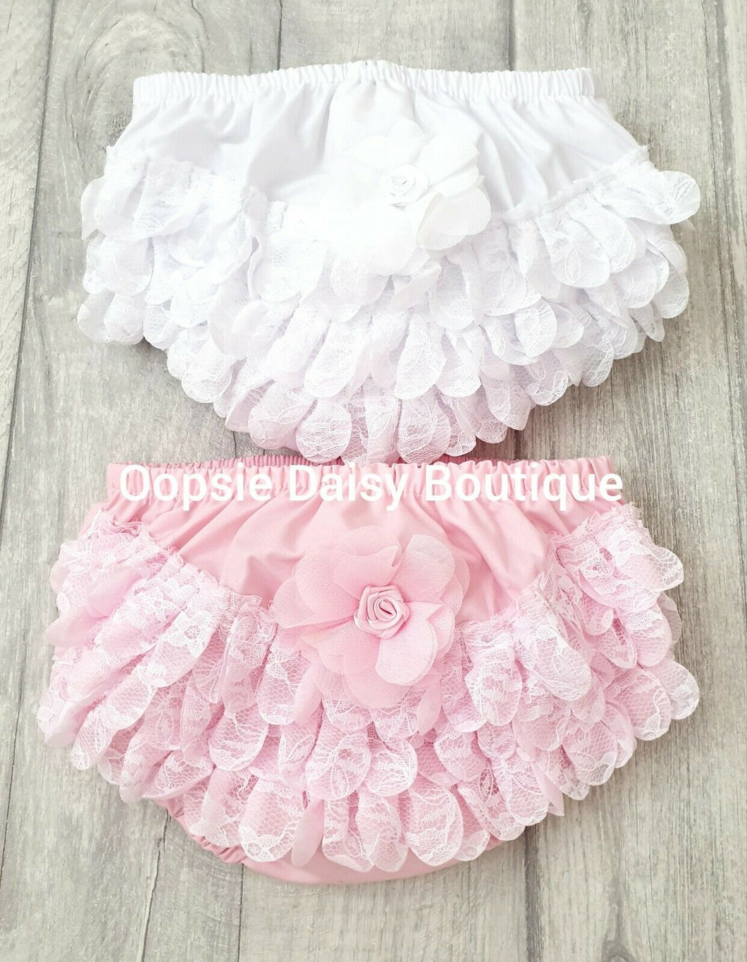 Baby Frilly Knickers Pants Pink & White - Oopsie Daisy Baby Boutique