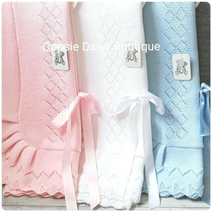 Beautiful Spanish Knitted Ribbon Blankets