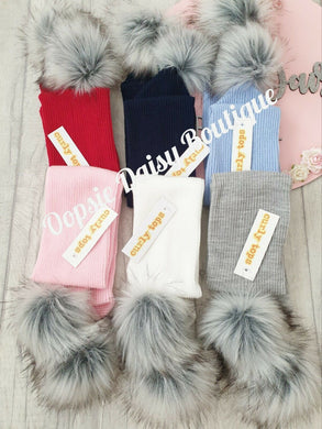 Baby Knitted Pom Pom Scarfs 0-4 years