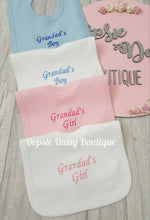 Load image into Gallery viewer, Nannas Boy/Girl Grandmas Boy/Girl Grandads Boy/Girl Embroidered Bibs