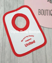 Load image into Gallery viewer, Me and My Daddy Support United Bib