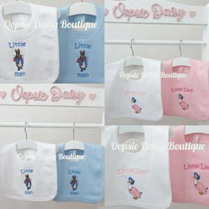 Peter Rabbit & Puddleduck Little Man Little Lady Bib