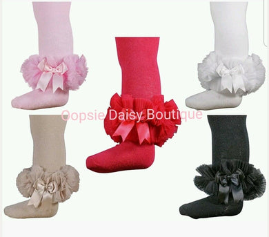 Girls Frilly TuTu Tights Spanish Romany Style (0-12M) - Oopsie Daisy Baby Boutique