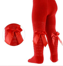Load image into Gallery viewer, Baby Girls Gorgeous Ribbon Bow Tights