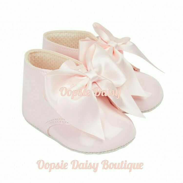 Baby Girls Pink Baypods Ribbon Boots 0-18mth
