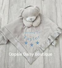 Load image into Gallery viewer, Personalised Baby Comforter Teddy Bear Design - Oopsie Daisy Baby Boutique