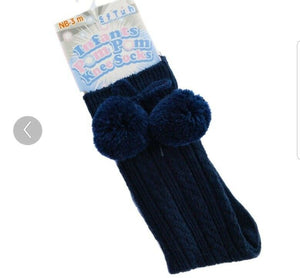 Knee High Pom Pom Socks x 10 Colours ☆ Romany Spanish Style - Oopsie Daisy Baby Boutique
