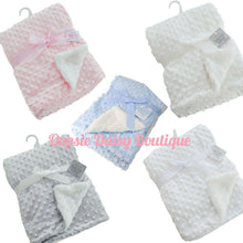 Load image into Gallery viewer, Deluxe Supersoft Minky Blanket Sherpa Back - Oopsie Daisy Baby Boutique