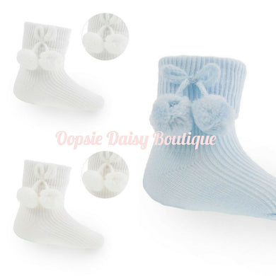 Boys/Girls Pom Pom Ankle Socks - Oopsie Daisy Baby Boutique