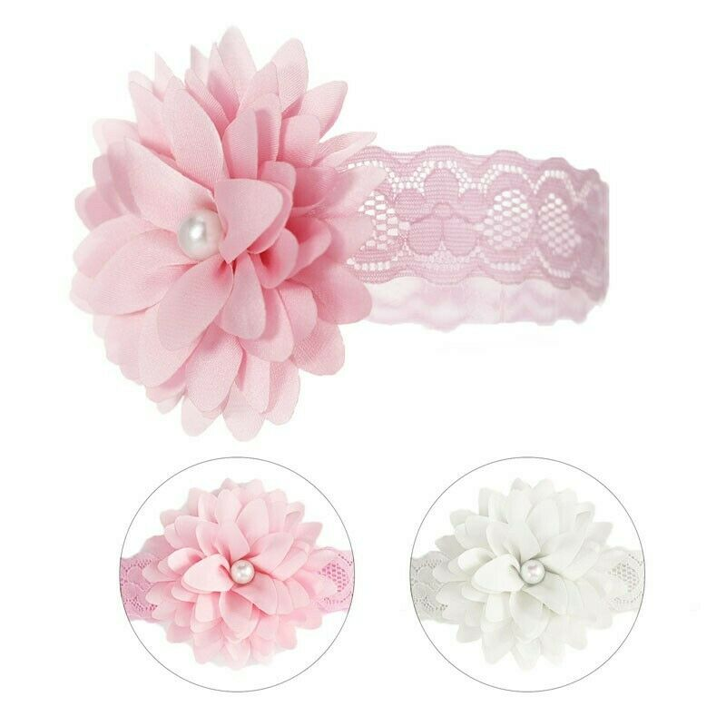 Baby Girls Flowers Lace Headbands