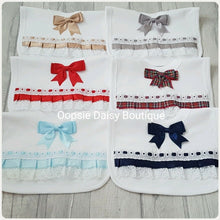 Load image into Gallery viewer, Ribbon Lace & Bows Bibs - Oopsie Daisy Baby Boutique