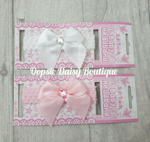 Baby Girls Ribbon & Lace Headbands - Oopsie Daisy Baby Boutique