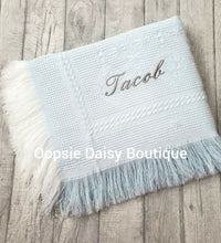 Load image into Gallery viewer, Personalised Baby Shawl Blanket - Diamond Design - Oopsie Daisy Baby Boutique