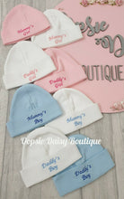 Load image into Gallery viewer, Mummys Girl/Boy Daddys Girl/Boy Hats Embroidered Design
