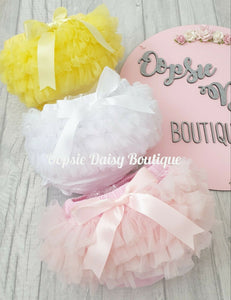 Girls Supersoft Frilly Knickers Ribbon & TuTu upto 4 years