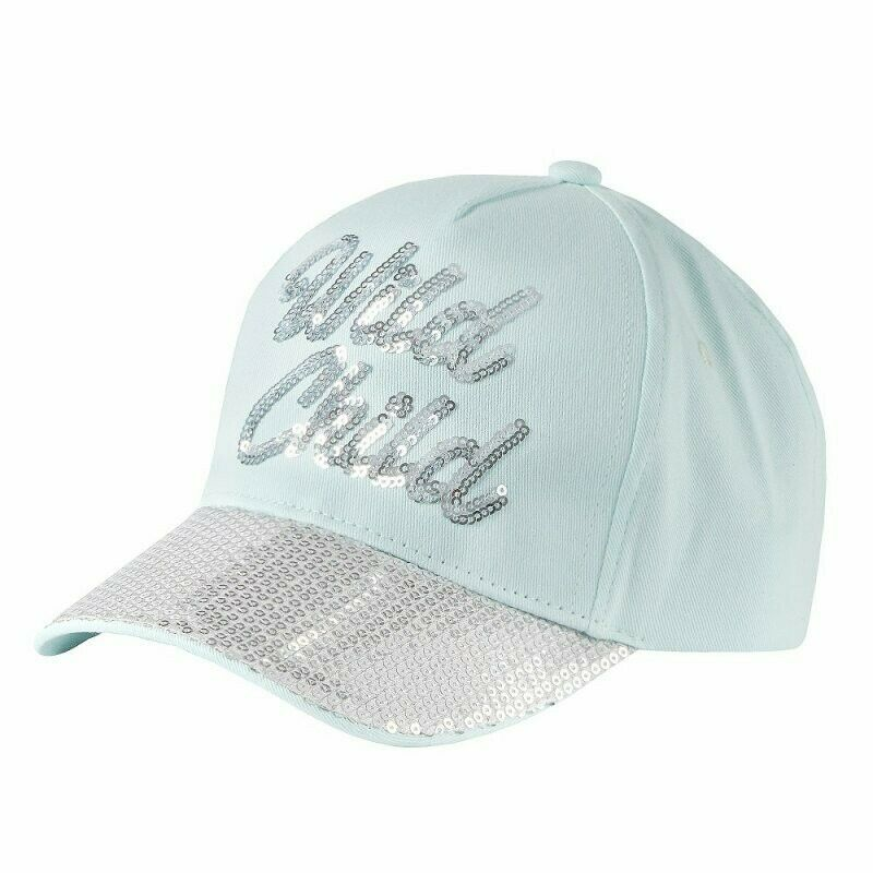 Girls Wild Child Sparkly Sequin Baseball Cap