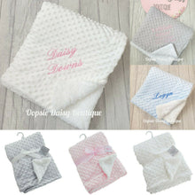Load image into Gallery viewer, Personalised Blanket Delux Supersoft Minky Blanket Sherpa Back