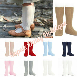 Condor Plain Ribbed Spanish Knee High Socks