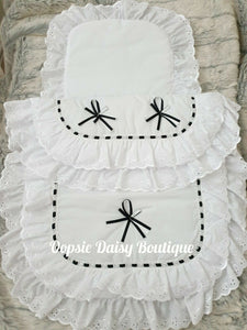 Spanish Romany Style Baby Pram Set Quilt & Pillow Set