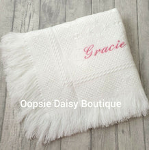 Load image into Gallery viewer, Personalised Baby Shawl Blanket - Star Design - Oopsie Daisy Baby Boutique