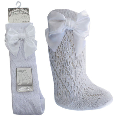 White Pelerine Knee High Ribbon Socks