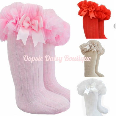 Knee High Frilly Tutu Spanish Style Socks