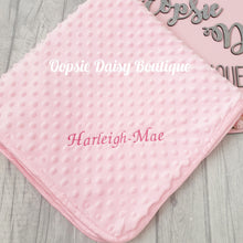 Load image into Gallery viewer, Personalised Blanket Delux Supersoft Minky Blanket