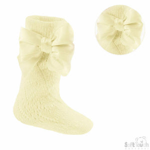 Lemon Pelerine Knee High Ribbon Socks