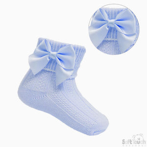 Blue Ribbon Ankle Socks