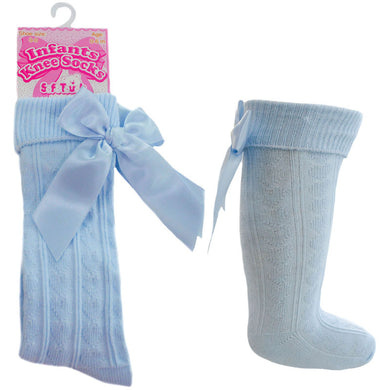 Blue Knee High Ribbon Socks