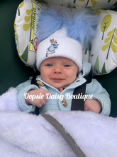 Load image into Gallery viewer, Baby Knitted Hats Boys Girls Peter Rabbit Pom Pom Hats