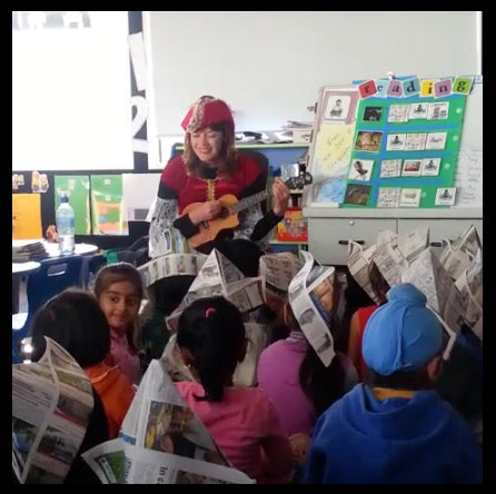 Singing Treasure! to the pupils of Marshal Laing school