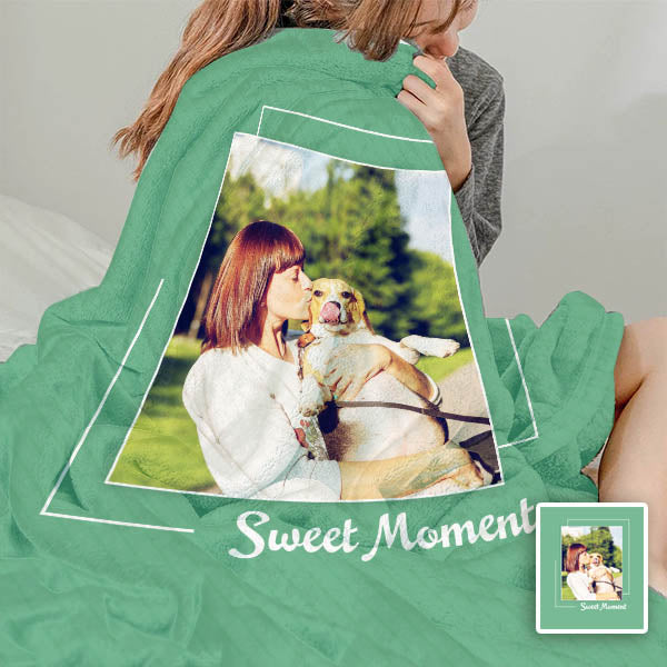 Custom Personalized Fleece Blanket with Picture/Photo Printing