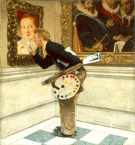 Norman Rockwell Painting titled Art Critic