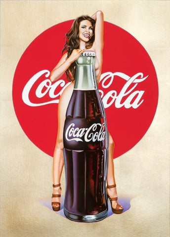 Mel Ramos Painting Lady with Coca Cola Bottle