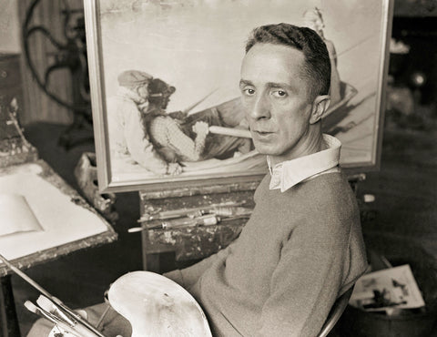 Norman Rockwell in the Studio
