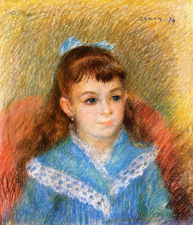 Pierre-Auguste Renoir, Portrait of a Young Girl, 1879