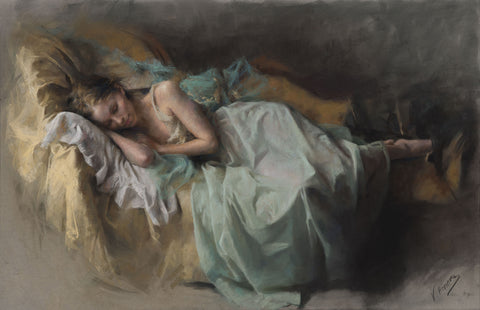 Vicente Romero The Dreamer Pastel Painting