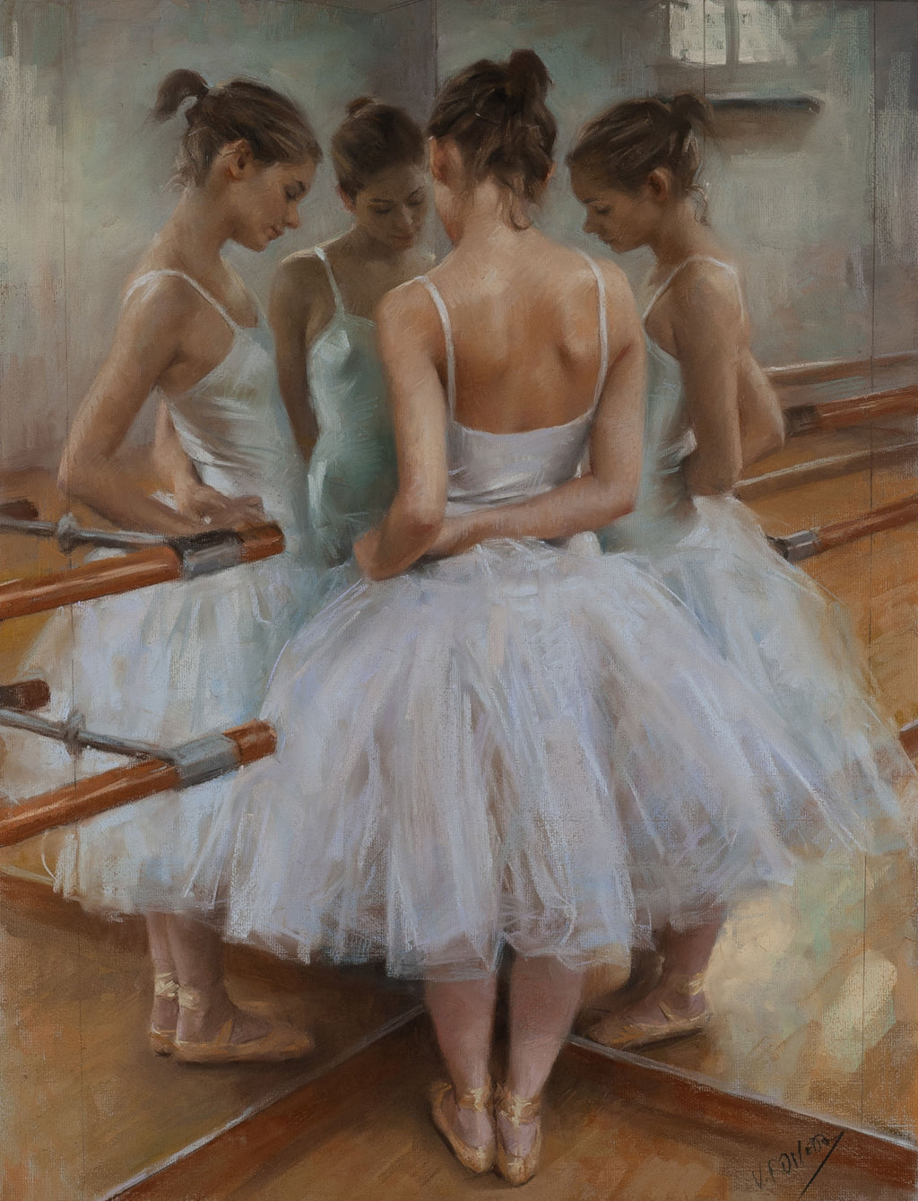 Reflections of a Dancer—by Vicente Romero—Limited Edition Print