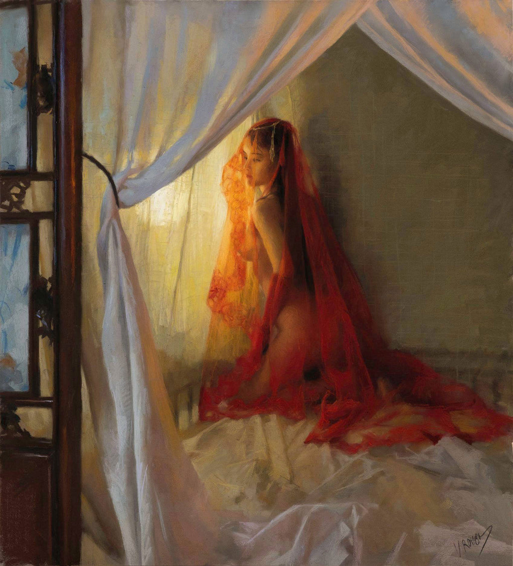 Veiled Seduction—by Vicente Romero—Limited Edition Print