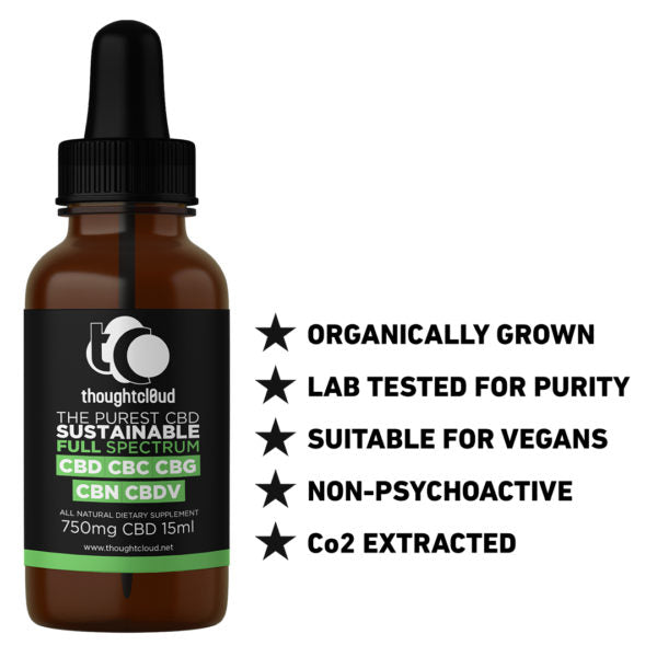 Full Spectrum CBD (750mg) in coconut oil