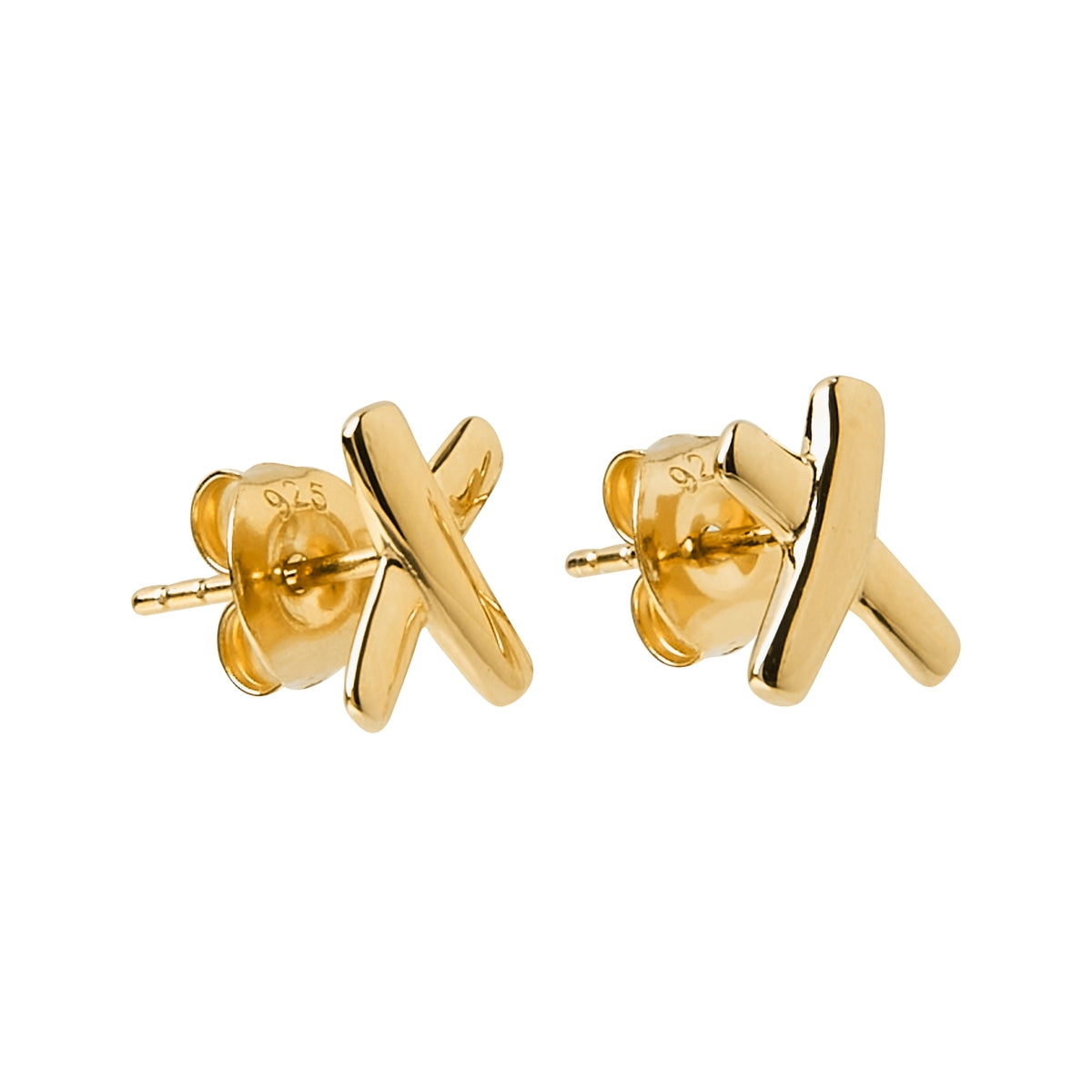 Kiss Stud Gold Earring