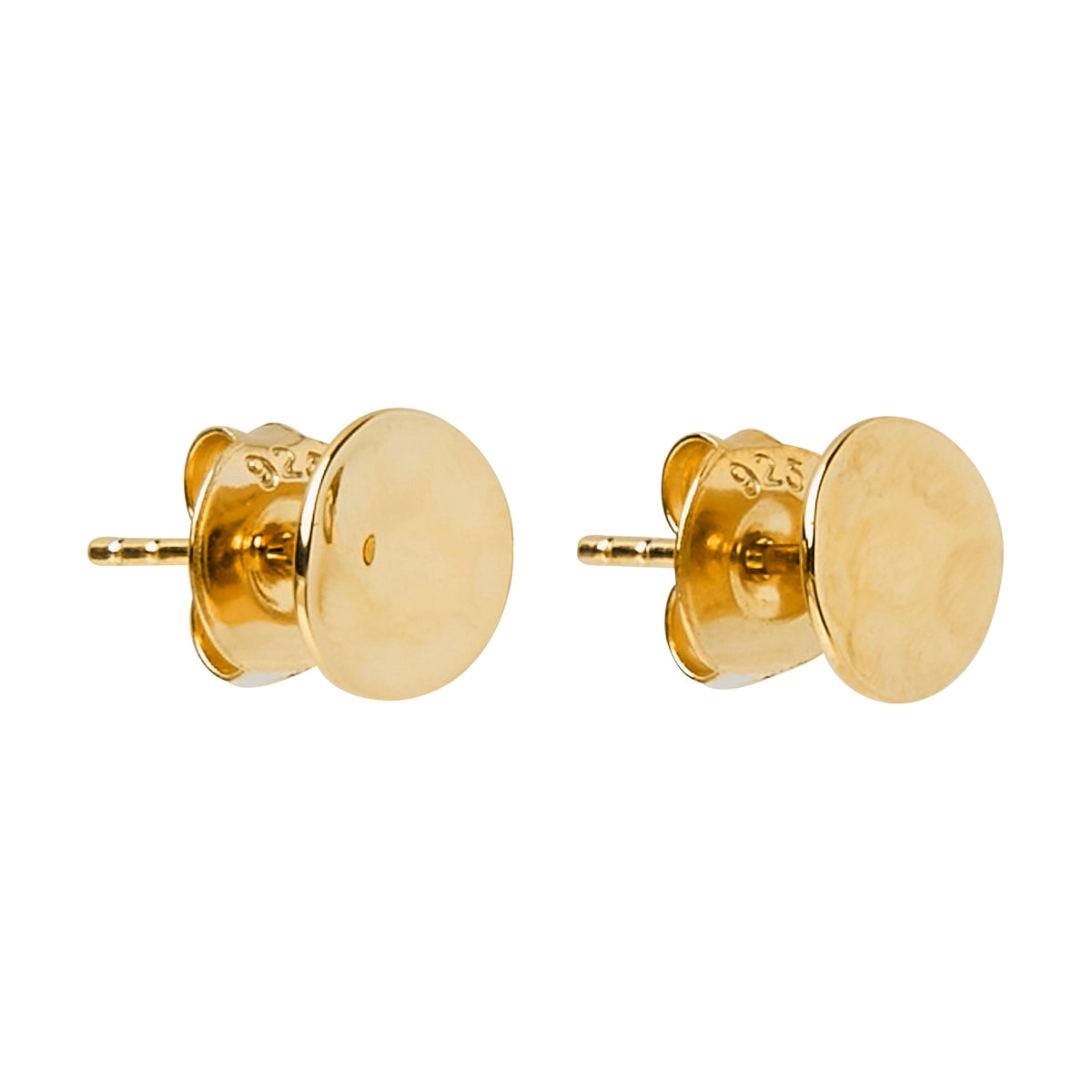 Double Beat Yellow Gold Stud Earring